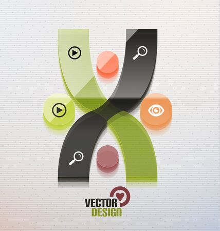 Vector 3d glass shape for business template Vector