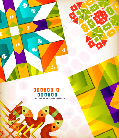 creation: Abstract geometric vintage retro shapes for background creation. Creation kit Illustration