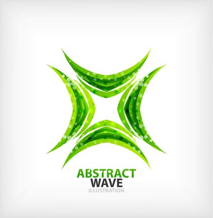 Vector green concept abstract business icon Vector