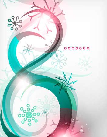 abstrakce: Barevné Vánoce vír abstrakce se světly