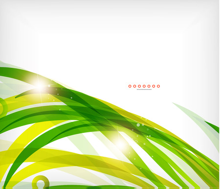 Green abstract eco wave swirls with lights for backgrounds  nature banners Vector