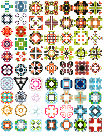 Set of abstract geometric icons  shapes.  Vector