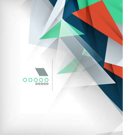 Abstract geometric shape background Vector