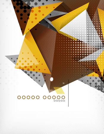 urban sprawl: Geometric shape triangle abstract background Illustration