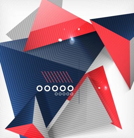 Fondo forma geométrica abstracta. Por negocios / tecnología / educación Foto de archivo - 23909652
