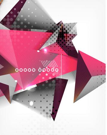 sprawl: Geometric shape triangle abstract background Illustration