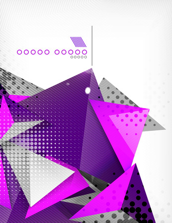 postmodern: Geometric shape triangle abstract background Illustration