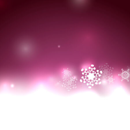 Purple vector snow Christmas background Vector