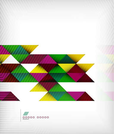 Business geometric shape background - triangles Vector