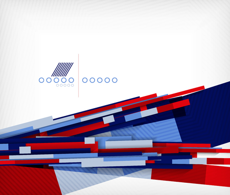 3d straight lines geometric shape abstract background Vector