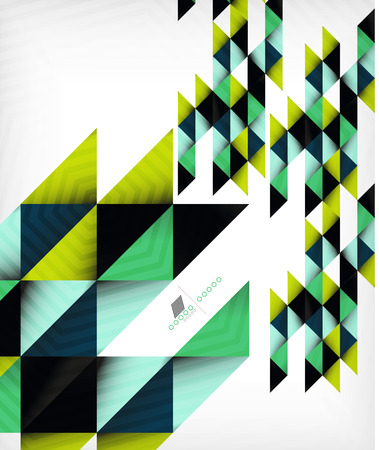 Colorful geometric shape triangle background Vector