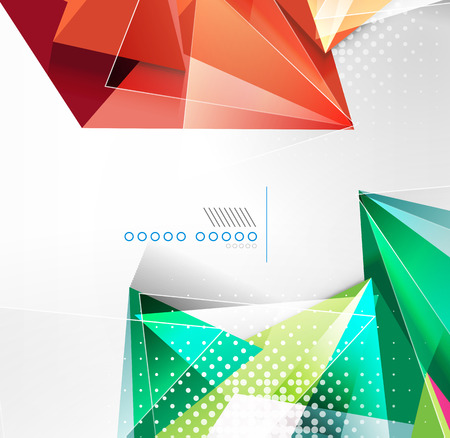 Vector triangle geometric shape background Vector