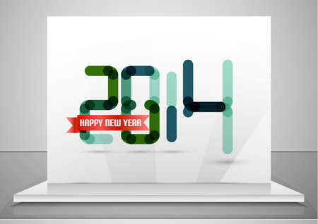2014. Happy New Year design template Vector