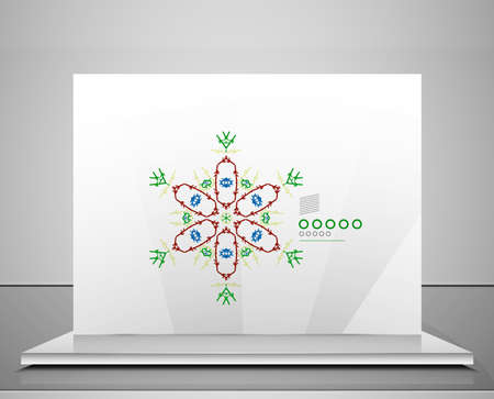 Business icon  symbol  concept. Abstract geometric corporate shape Vector