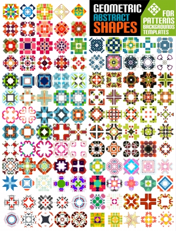 Set of abstract geometric shapes for patterns, backgrounds, templates, infographics