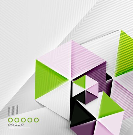 Hexagon business paper geometric shape for templates, technology, presentation, banner, layout