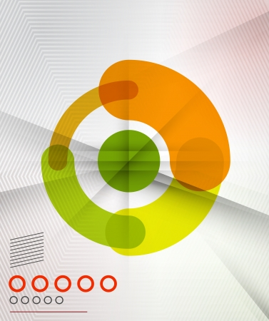 movement: Colorful corporate abstract circles design templates for business, technology, presentation,layout template Illustration