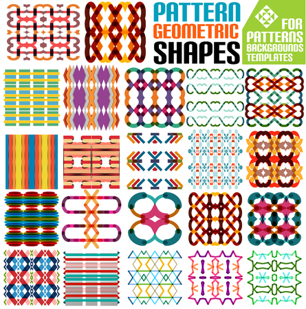 Set of abstract geometric shapes for patterns, backgrounds, templates, infographics Stock Vector - 24377366