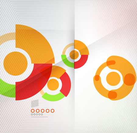 Colorful corporate abstract circles design templates for business, technology, presentation,layout template Vector