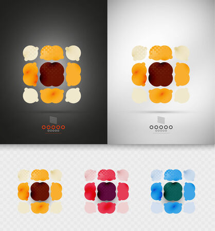 Geometric abstract shapes Vector