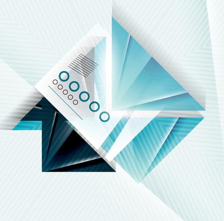 virtual reality simulator: Blue abstract triangle shape geometric
