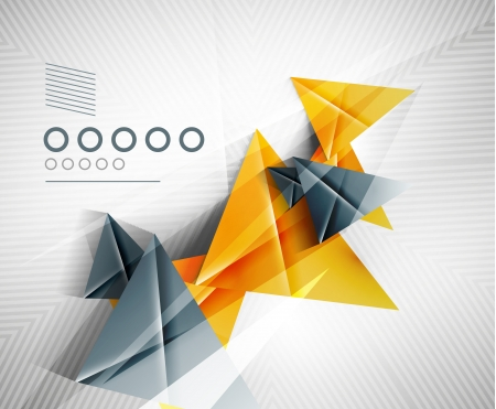 Geometric shape abstract triangle Vector