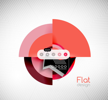 interface design: Geometric shapes flat interface design for infographics