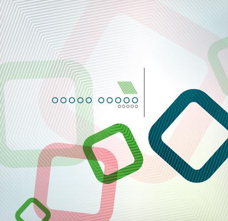 geometric shape: Dise�o plano colorida plaza forma geom�trica de la infograf�a | antecedentes comerciales | banderas | icono tecno negocio