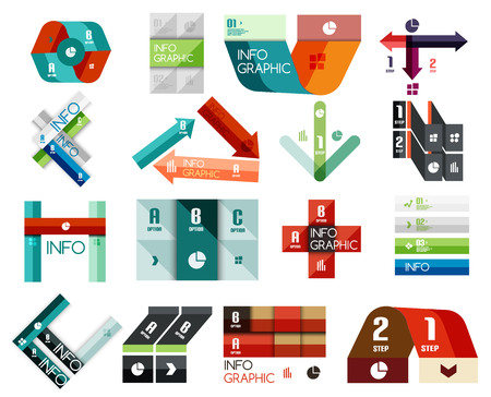 Set of modern glass option infographics templates for business background | numbered banners | business lines Vector