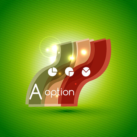Colorful bright light shiny option banner for business background | numbered banners | business lines | graphic website layout vector Vector
