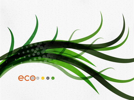 Green eco nature minimal floral concept | flying leaves | nature flying leaves template Vector