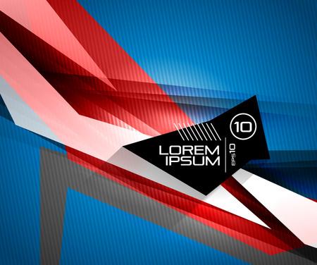 futuristico: Vettore linee colorate lucide futuristico su fondo nero. Per gli sfondi tecnologici aziendali, banner, presentazioni, infografica