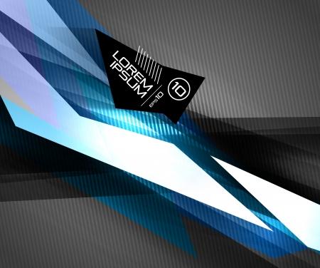 футуристический: Вектор красочные футуристические глянцевые линии на черном. Для бизнес-технологии фоны, баннеры, презентации, инфографика Иллюстрация