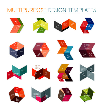 Collection of paper arrow multipurpose business templates Vector