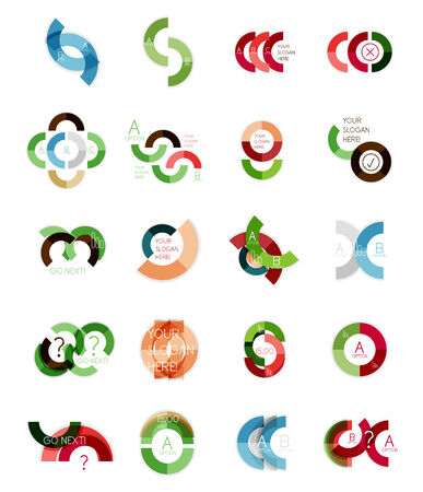 Set of ring infographic design templates Vector