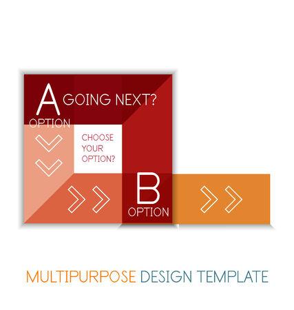 Transparent geometric shaped mutlipurpose templates. Vector business  technology infographic Vector