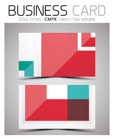 Vector business card design template - colorful geometric shapes. CMYK Stock Vector - 25703388