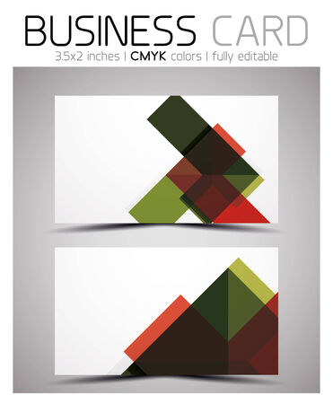Vector business card design template - colorful geometric shapes. CMYK Stock Vector - 25703385
