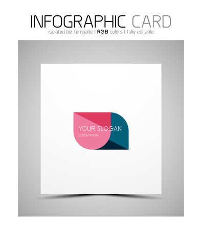 semicircle: Semicircle infographic business card Illustration
