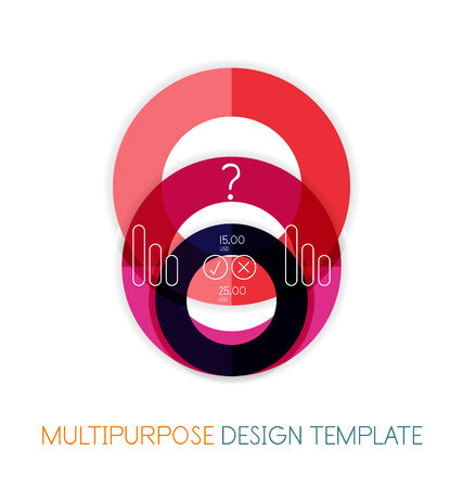 Paper geometric shape multipurpose design template Vector