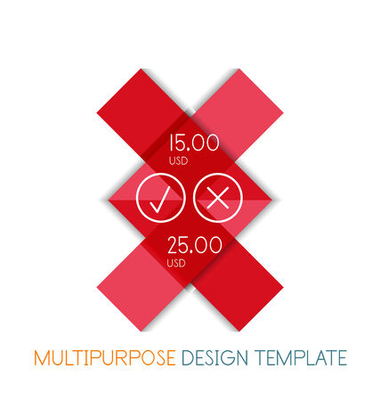 multipurpose: Paper geometric shape multipurpose design template