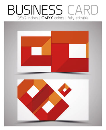 Vector business card design template - colorful geometric shapes. CMYK Stock Vector - 25704470