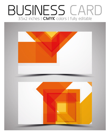 Vector Business Card Design Template Colorful Geometric Shapes - 35 x2 business card template