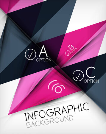 Infographic abstract background made of geometric shapes Vector