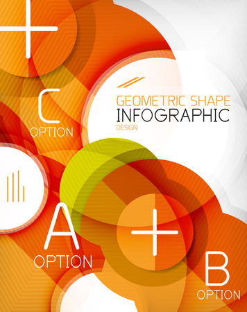 Glossy circle geometric shape info graphic background. For business presentation | technology | web design Vector