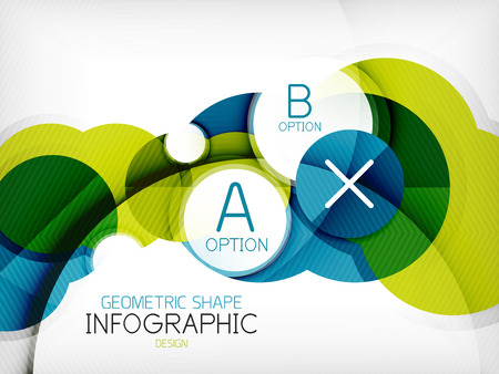Glossy circle geometric shape info graphic background. For business presentation | technology | web design Illustration