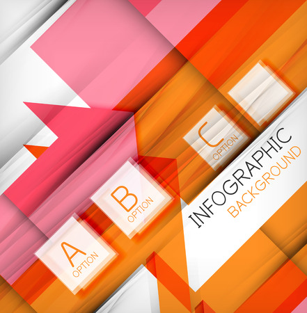 Infographic abstract background - arrow geometric shape. For business presentation | technology | web design Stock Vector - 26210053