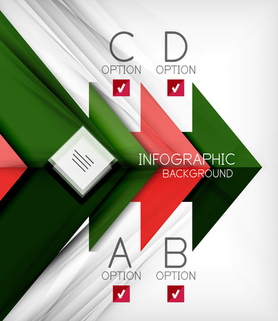 Infographic abstract background - arrow geometric shape. For business presentation | technology | web design Vector