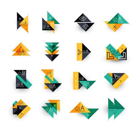 business backgrounds: Set di modelli moderni infographic - triangoli. Forme geometriche. Per i banner, sfondi aziendali, presentazioni