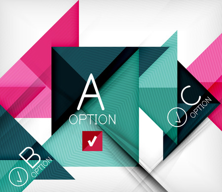 Triangle geometric shape infographic background Vector